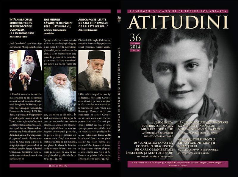 A apărut revista ATITUDINI, nr. 36, închinată maicii mucenițe Mihaela Iordache