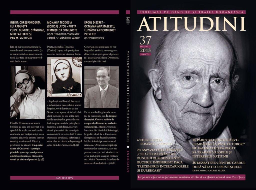 A apărut Revista ATITUDINI Nr. 37, dedicată filosofului şi mărturisitorului Petre Ţuţea