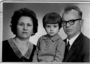 Virgil Maxim cu soția si fetița
