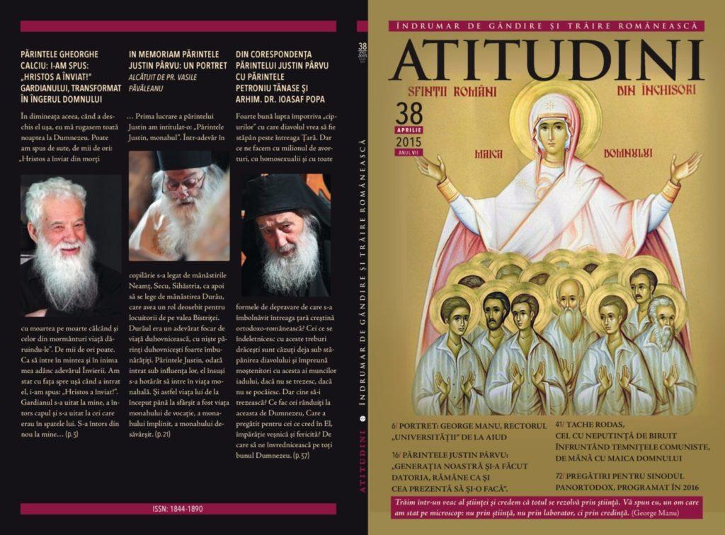 A apărut Revista ATITUDINI NR. 38, închinată lui George Manu şi martirilor din temniţele comuniste