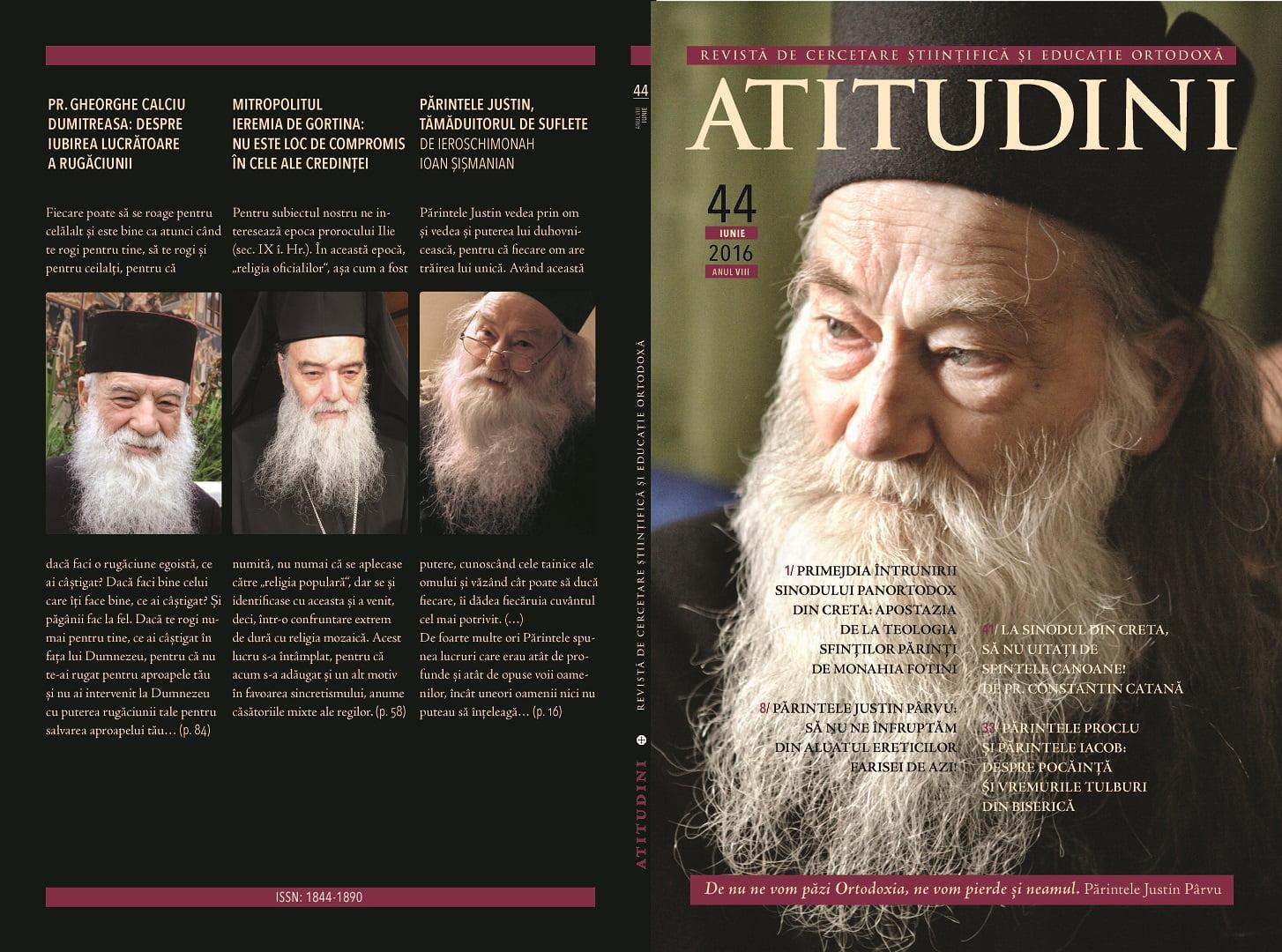 Revista Ortodoxă ATITUDINI numărul 44