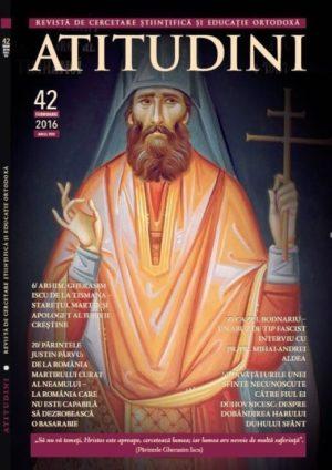 Revista Ortodoxa ATITUDINI nr. 42 Coperta Magazin