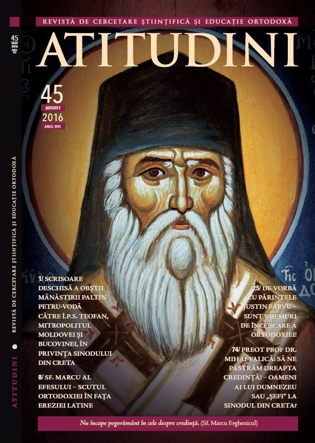 Coperta mare 1 Revista Crestin Ortodoxa ATITUDINI nr. 45