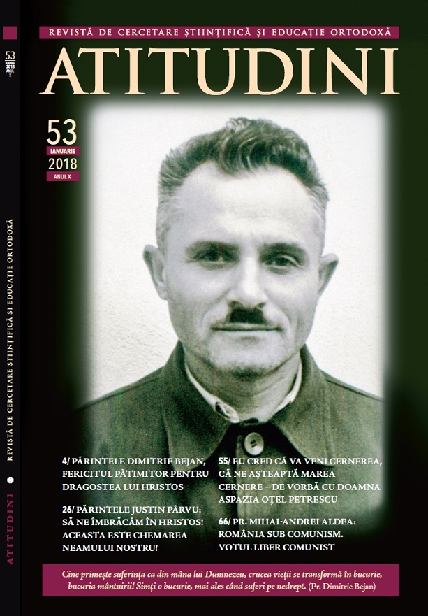 Revista Ortodoxă ATITUDINI Nr. 53 dedicată Părintelui Dimitrie Bejan