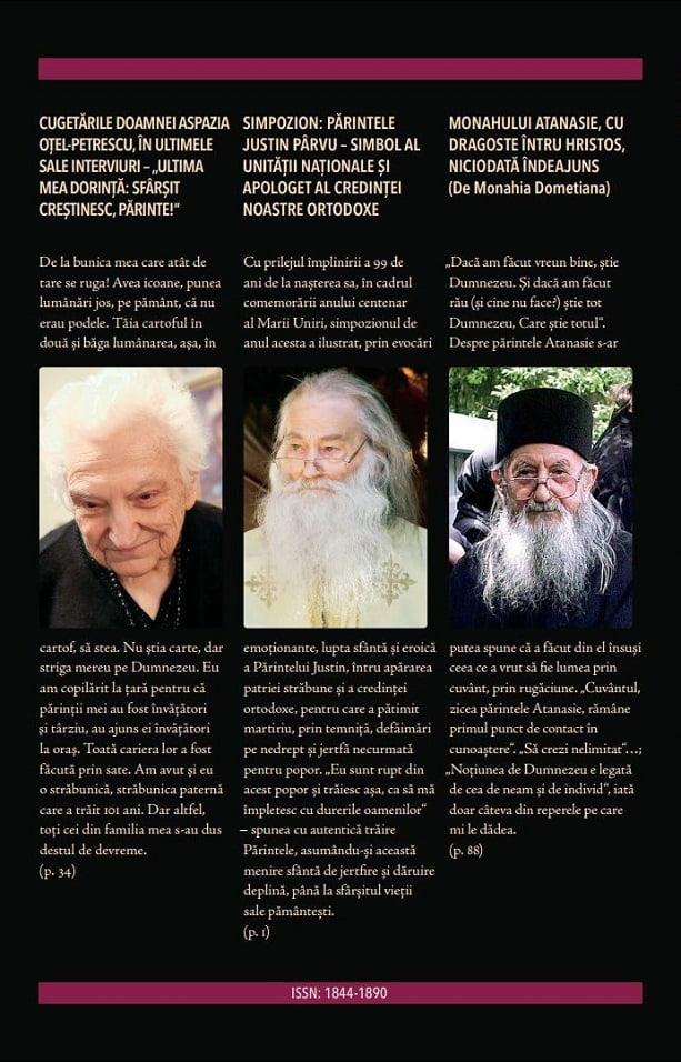 Revista Ortodoxă ATITUDINI Nr. 54 dedicată Doamnei Aspazia Oțel Petrescu