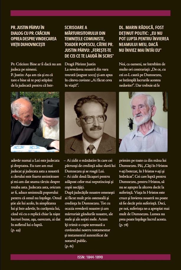 Revista Ortodoxă ATITUDINI Nr. 59, dedicată Părintelui Atanasie Ștefănescu