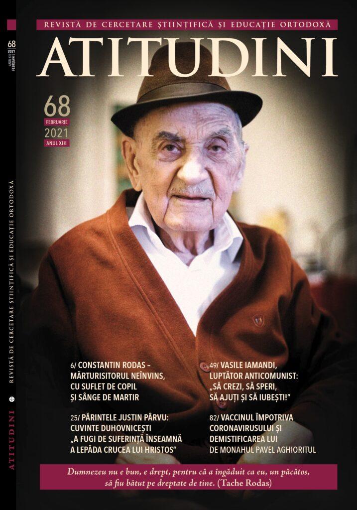 Tache Rodas în Revista Ortodoxă ATITUDINI nr. 68